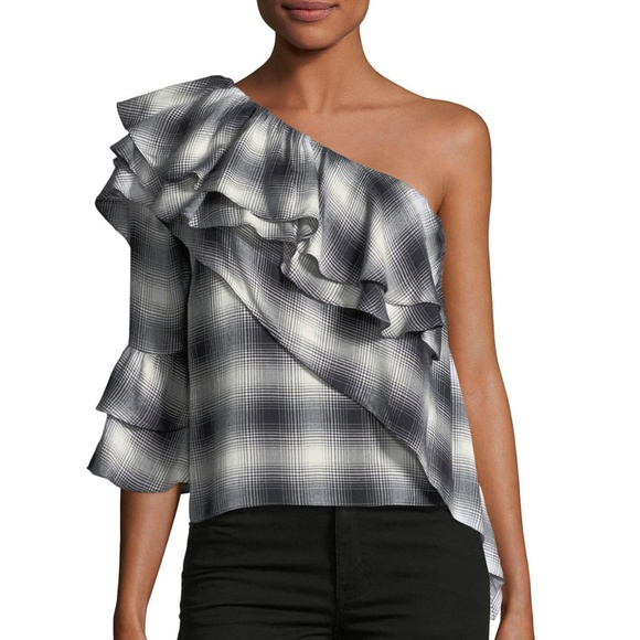 6be7afb3538ff Alice + Olivia Tops - alice + olivia Hilaria Ruffled One-Shoulder Blouse